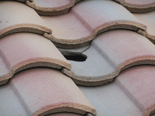 Tile roofs are very delicate to impact.