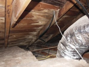 Your Attic is part of the inspection. Here is a photo with serious water intrusion.